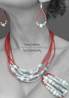 Pearlfection Freshwater Pearl Leather & Silver door SeaRanchJewelry