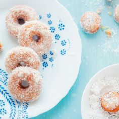These doughnuts are insanely moist. I promise you, they melt in your mouth. My friends can never get enough of them. This cake doughnut recipe is very simple to make. I store the doughnuts glazed in. Gluten Free Desserts, Just Desserts, Dessert Recipes, Cookbook Recipes, Breakfast Dessert, Eat Dessert First, Dessert Table, Beignets, Churros