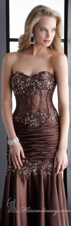Strapless evening gown by Jasz Couture