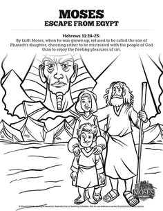 Exodus 2 Moses Escapes From Egypt Sunday School Coloring Pages: Get ready to unleash the creativity of your kids with these wonderfully illustrated Moses Escapes From Egypt coloring pages. Each activity page is a fantastic opportunity for your kids to engage Exodus 2 with imagination and creativity.