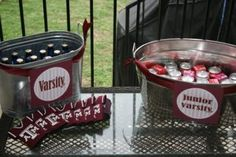 P is for Party: Real Parties: Another Fabulous Football Party Aggie Football, Football Tailgate, Football Birthday, Football Season, Tailgating, Tailgate Parties, Kid Drinks, Party Drinks, Nfl Party