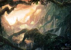 Marta Nael: Illustrator and Matte Painter | Matte/Landscapes