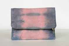 Rebecca Desnos Naturally Dyed Organic Cotton Pouch Clutch Bag Madder Pink Purple Indigo Blue Ombre Tie Dye - 800 px - 9.jpg