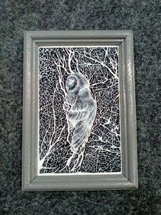Резная картина из дерева — Сова