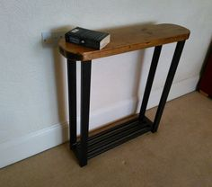 Telephone Console Table hallway console table, lamp table or telephone table rustic