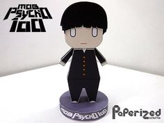 Mob Psycho 100 - Shigeo Kageyama Paper Toy - by Paperized - == -  Created by my friend, the Philippine designer and modeler Paulo, from Paperized website, this is the paper toy of Shigeo Kageyama, the main protagonist of Mob Psycho 100, Japanese anime and mangá series. You will find many more original paper toys there.