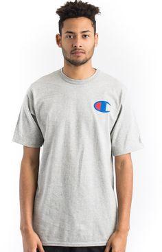 Champion LIFE, Heritage C Logo T-Shirt - Oxford Grey - Champion - MOOSE Limited