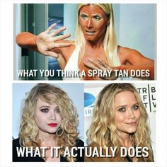 You will never look like the top picture with Liquid Sunshine sunless tanning…