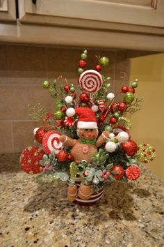 Gingerbread Man Arrangement by kristenscreations on Etsy