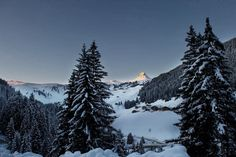 Sonnenaufgang in Damüls Das Hotel, Mount Rainier, Mount Everest, Europe, Snow, Mountains, Nature, Travel, Outdoor