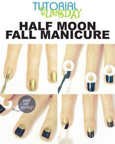 Utilisez des œillets adhésifs pour créer une jolie demie-lune.