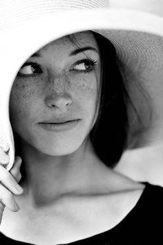 Freckles are the best. Hats are great too. Dark hair and freckles are a good…