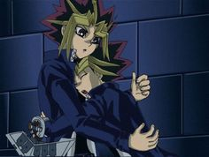 Yami and Yugi from yugioh puzzleshipping - yes I ship Yugi with his other me Yami they are the Bella and Edward in yugioh