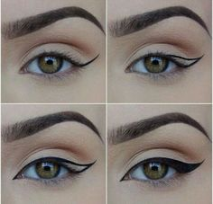 How to do winged eyeliner. This really is the perfect look!