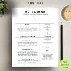 Word Resume & Cover letter Template by Profilia Resume Boutique on @Graphicsauthor