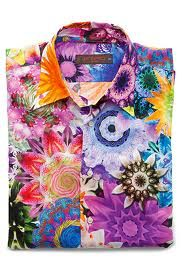 Etro men's shirt would make an awesome quilt. So bright and colorful!