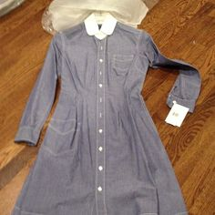 Shirt dress Light blue , lightweight denim brand new with tags & hanger bag from Ralph Lauren!! Ralph Lauren Dresses Long Sleeve