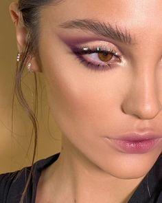 Makeup Eye Looks, Eye Makeup Art, Eyeshadow Looks, Skin Makeup, Eyeshadow Makeup, Purple Makeup Looks, Soft Eye Makeup, Purple Eyeshadow, Glam Makeup
