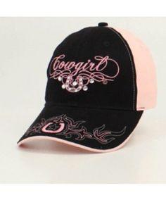 4c4cb4a52ab Blazin Roxx Pink   Black Horseshoe Ball Cap Western Store