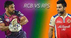 WATCH LIVE IPL 2016 - ROYAL CHALLENGERS BANGALORE (RCB) VS RISING PUNE SUPERGIANTS (RPS) LIVE STREAMING | LIVE SCORE | SCOREBOARD