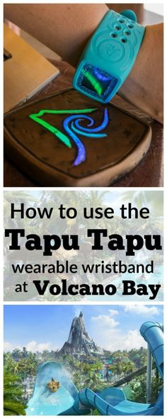 Orlando's Volcano Bay is the hottest attraction in Florida. The key to a great visit is knowing how to use the Tapu Tapu wristband. Here's the essential guide. Orlando Travel, Orlando Vacation, Florida Vacation, Florida Travel, Orlando Florida, Orlando Disney, Downtown Disney, Central Florida, Cruise Vacation