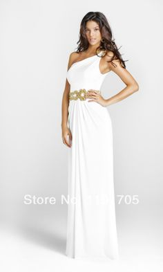 Blush 2012 Homecoming Dresses - Ivory & Gold Goddess One Shoulder Prom Gown - Unique Vintage - Prom dresses, retro dresses, retro swimsuits. Prom Dress 2014, Homecoming Dresses, Bridesmaid Dresses, Wedding Dresses, Prom 2014, Reception Dresses, Winter Formal Dresses, Formal Evening Dresses, Evening Gowns