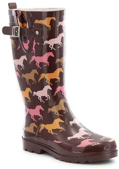 Brown Horse Run Rain Boot. These Wellies are perfect for the barn or street.
