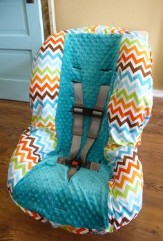 Chunky Bermuda Chevron Toddler Carseat Cover by sewcuteinaz, $40.00