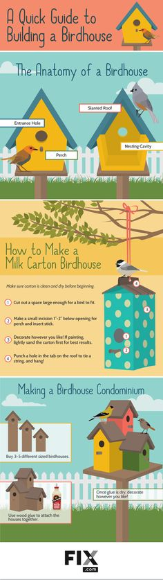 Learn how to attract more feathered friends to your garden with this guide to constructing your own DIY birdhouse. #DIY