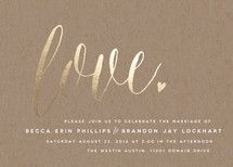 Charming Love Foil-Pressed Wedding Invitations by ... | Minted
