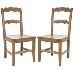 @Overstock - Use these side chairs to add some style to any room in the home for dining or entertaining. This set of accent chairs features a beautiful oak finish that goes with all decor and a hardwood frame for durability. The tall chair backs add support.http://www.overstock.com/Home-Garden/Chatel-Oak-Finish-Side-Chairs-Set-of-2/6240895/product.html?CID=214117 $251.99
