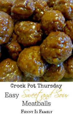 The easiest and most delicious Crock Pot sweet and sour meatballs! These are perfect for feeding a crowd.