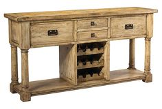 Pyrenees Wine Storage Console on OneKingsLane.com  And distressed look for cabinets.