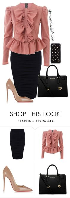 """Apostolic Fashions #886"" by apostolicfashions on Polyvore featuring Miss Selfridge, Labour of Love, Christian Louboutin, MICHAEL Michael Kors and Diane Von Furstenberg"