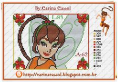Fawn Disney Fairies perler bead pattern by Carina Cassol