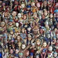 Puppet collage by artist Nancy Fouts