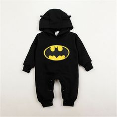 Batman Printed Long Sleeve Cotton Rompers //Price: $17.24 & FREE Shipping //     #KidsClothing