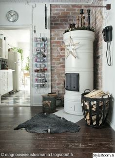 Love these Scandinavian stoves Decor, Scandinavian Home, Hygge Home, Vintage Industrial Decor, Home N Decor, Cozy House, Home Living Room, Eclectic Home, House Interior