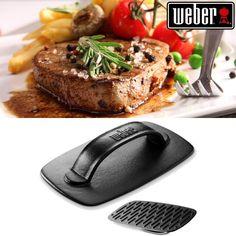 Weber Original Grill Press - All Purpose Accessories Weber Grill, Cast Iron Dutch Oven, Barbecue, Grilling, Purpose, Kit, The Originals, Cooking, Accessories