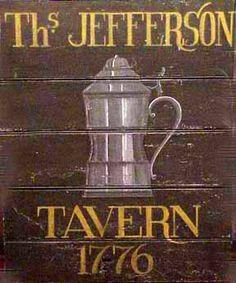 Colonial Tavern Signs   jefferson tavern sign ray teresa podeszwa folk art colonial sign ...