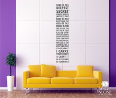 Wall Decal Quote Text ee cummings I Carry Your Heart // etsy.com