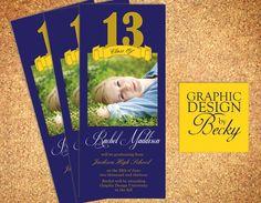 Ribbon Grad II  - Printable Graduation Announcements