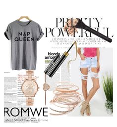 """""""romwe"""" by sarahej-1 ❤ liked on Polyvore featuring Red Camel and Michael Kors"""