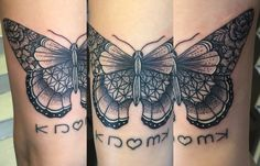 Butterfly#dotwork#abstract tattoo