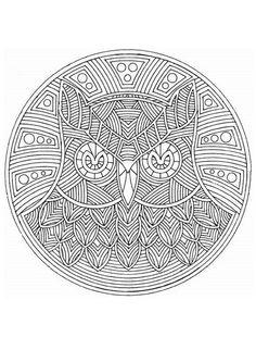 Owl Mandala for colouring