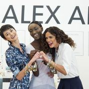 The modeltestants from #TheFace find a bangle that suits them on the set of the latest  #Alexandani commercial.    #bracelet #jewelry  #TV #modeling #fashion #charmedarms