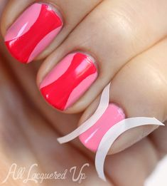 hourglass manicure nail art tutorial opi minnie OPI Couture de Minnie Nail Polish Swatches & Review