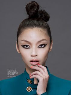 Editorial de beleza da Elle Vietnã de dezembro / 2014.