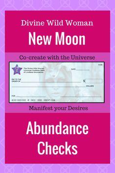New Moon Abundance Checks to Manifest Your Desires