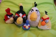 amigurumi crochet angry birds